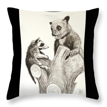 Holding Ones Ground Throw Pillow