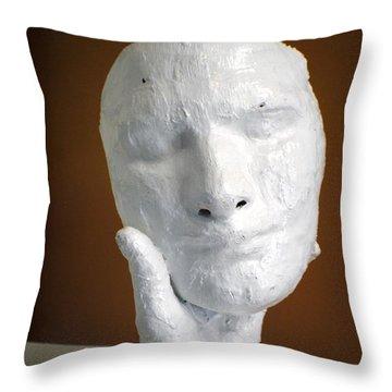 Holding Onto His Facade Throw Pillow