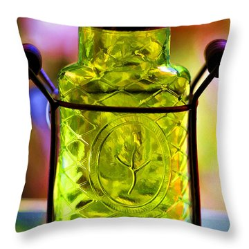 Throw Pillow featuring the photograph Holding Spring by Jaki Miller