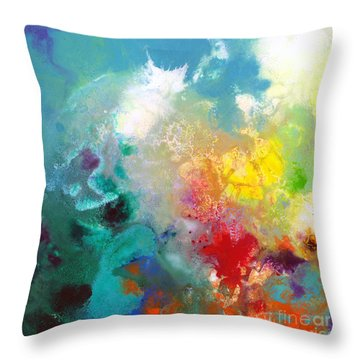 Holding The High Watch Canvas One Throw Pillow