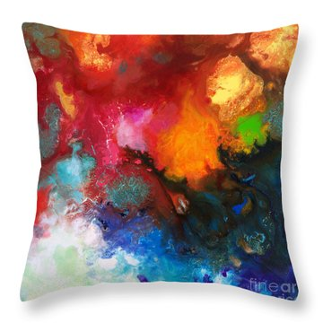 Holding The High Watch Canvas Three Throw Pillow