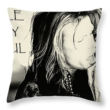 Hole In My Soul Sketched Throw Pillow