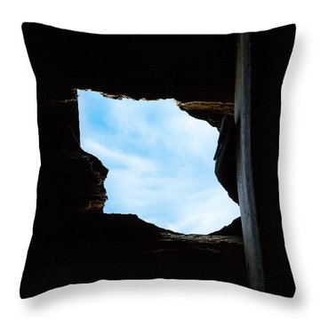 Throw Pillow featuring the photograph Hole In The Roof  by Gary Heller