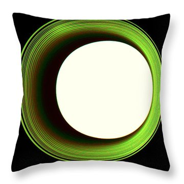 Hole In The Wall - Green Throw Pillow