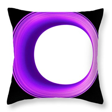 Hole In The Wall - Purple Throw Pillow