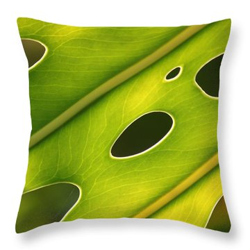 Holey Light Throw Pillow