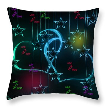 Holiday 2-featured In 'visions Of The Night And The Christian Connection' Throw Pillow by EricaMaxine  Price