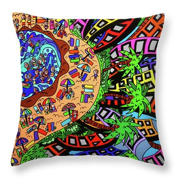 Holiday By The Beach Throw Pillow