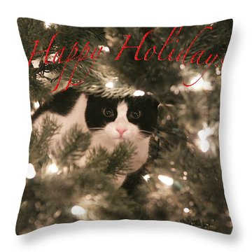 Holiday Card Throw Pillow by Shoal Hollingsworth