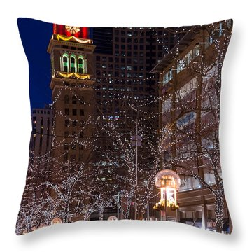 Holiday Carriage Ride Throw Pillow
