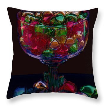 Throw Pillow featuring the photograph Holiday Cheers by Photography by Laura Lee