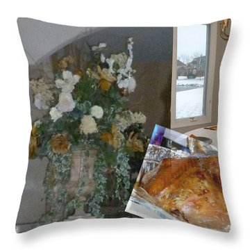 Holiday Collage Throw Pillow