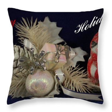 Holiday Greeting Throw Pillow