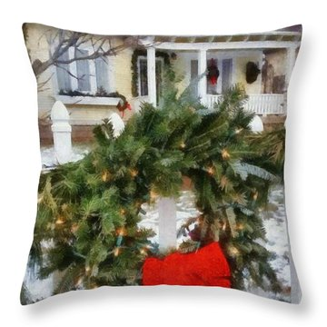 Holiday In The Neighborhood Throw Pillow