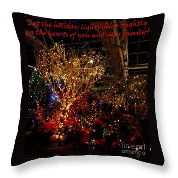 Holiday Lights Greeting Card Throw Pillow