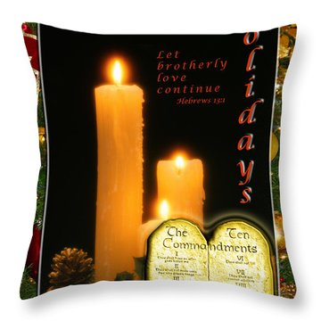 Holiday Love Declaration Throw Pillow