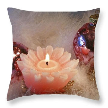 Holiday Moments Throw Pillow by Inspired Nature Photography Fine Art Photography