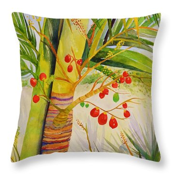 Holiday Palm Throw Pillow
