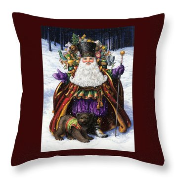 Holiday Riches Throw Pillow
