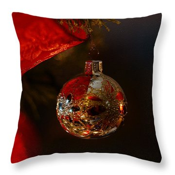 Throw Pillow featuring the photograph Holiday Season by Linda Shafer