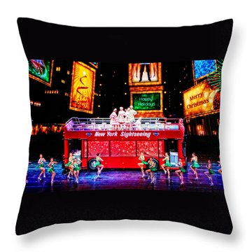 Holiday Sightseeing Throw Pillow
