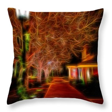 Throw Pillow featuring the photograph Holiday Stroll by Diane Alexander