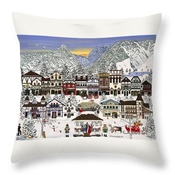 Holiday Village Throw Pillow