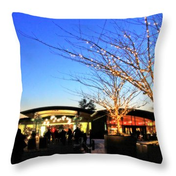 Throw Pillow featuring the photograph Holidays At The Nybg by Aurelio Zucco