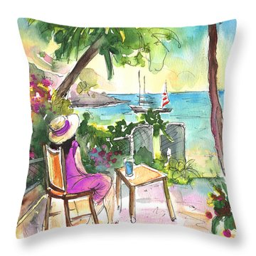 Holidays In Saint Martin Throw Pillow