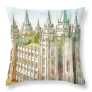 Holiness To The Lord Throw Pillow by Greg Collins