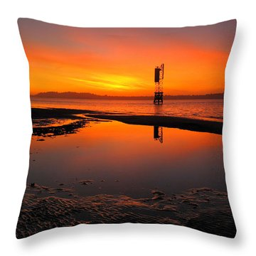 Hollering Place Aglow Throw Pillow