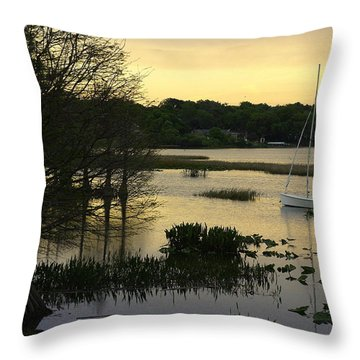 Hollingsworth Sunset Throw Pillow by Laurie Perry