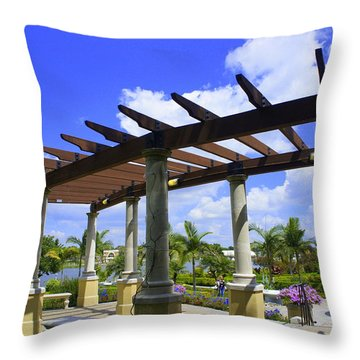 Hollis Pergola Throw Pillow by Laurie Perry