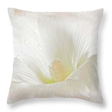 Hollyhock Illusion Throw Pillow