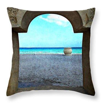 Hollywood Beach Arch Throw Pillow by Joan  Minchak