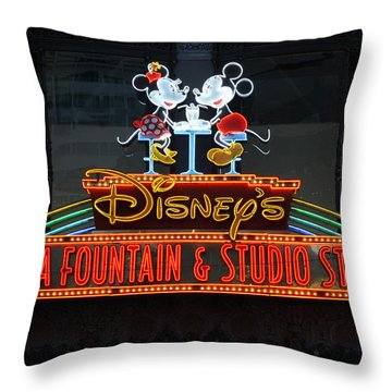 Hollywood Disney Throw Pillow