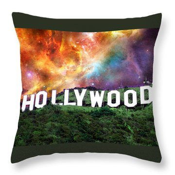 Hollywood - Home Of The Stars By Sharon Cummings Throw Pillow by Sharon Cummings