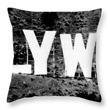 Hollywood II Throw Pillow by La Dolce Vita