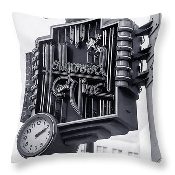 Hollywood Landmarks - Hollywood And Vine Sign Throw Pillow by Art Block Collections