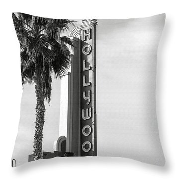 Hollywood Landmarks - Hollywood Theater Throw Pillow by Art Block Collections