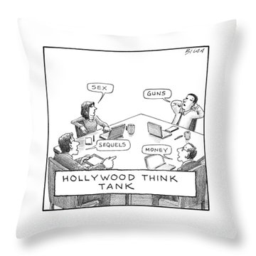 Hollywood Think Tank Throw Pillow
