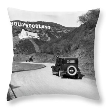 Hollywoodland Throw Pillow