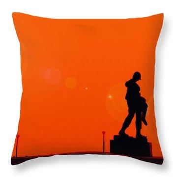Holocaust Memorial - Sunset Throw Pillow by Nishanth Gopinathan