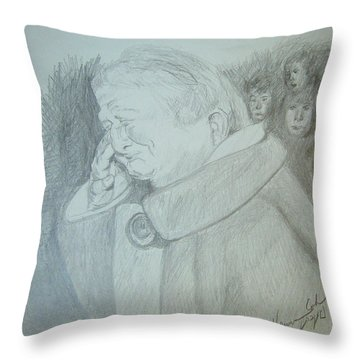 Holocaust Memories Throw Pillow by Esther Newman-Cohen