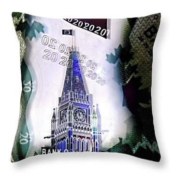 Holographic Parlement Throw Pillow by Danielle  Parent