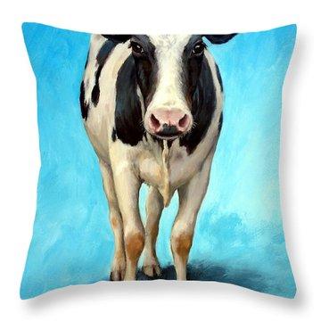 Cow Art Throw Pillows