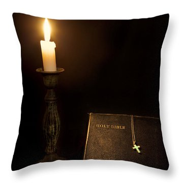 Holy Bible Throw Pillow by Bill Wakeley