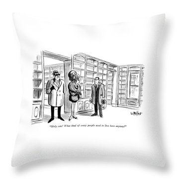Holy Cow!  What Kind Of Crazy People Used To Live Throw Pillow