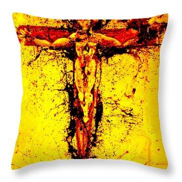 Holy Cross Unholy Sword Throw Pillow