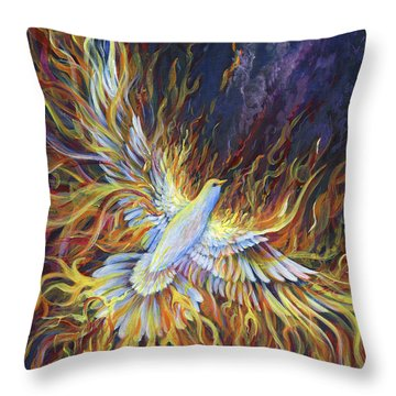 Holy Fire Throw Pillow